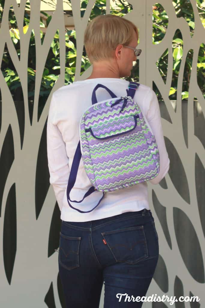 Sew Sturdy: The Essential Backpack sewn and worn by Narelle from Threadistry
