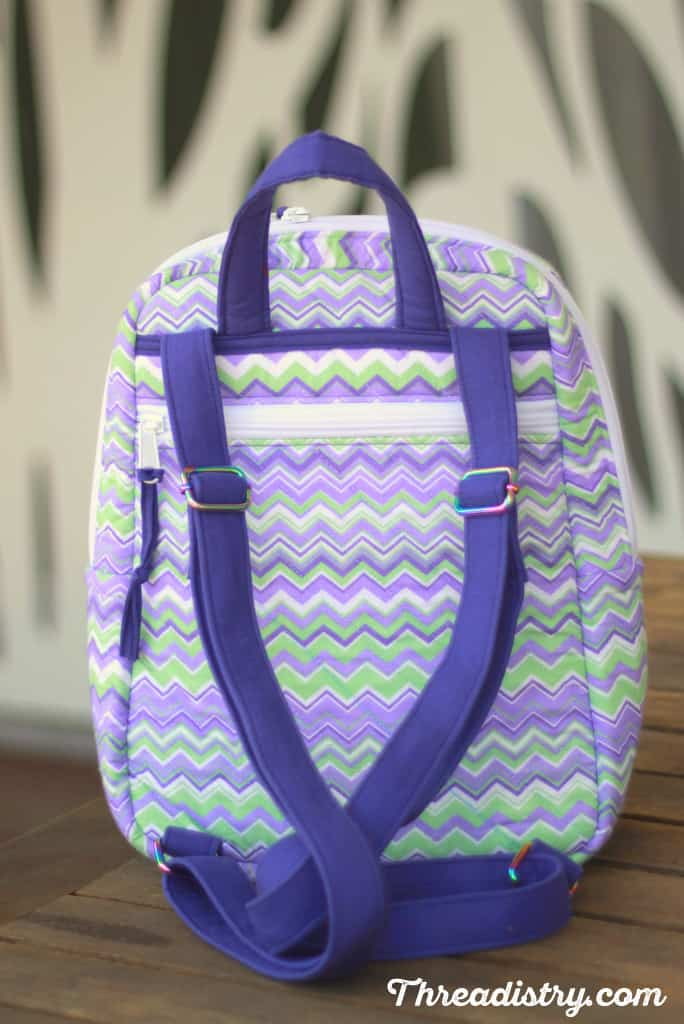 My version of the Sew Sturdy Essential Backpack - back view