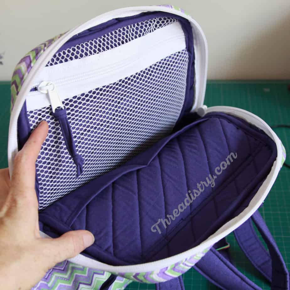 My version of the Sew Sturdy Essential Backpack - mesh zipper pocket