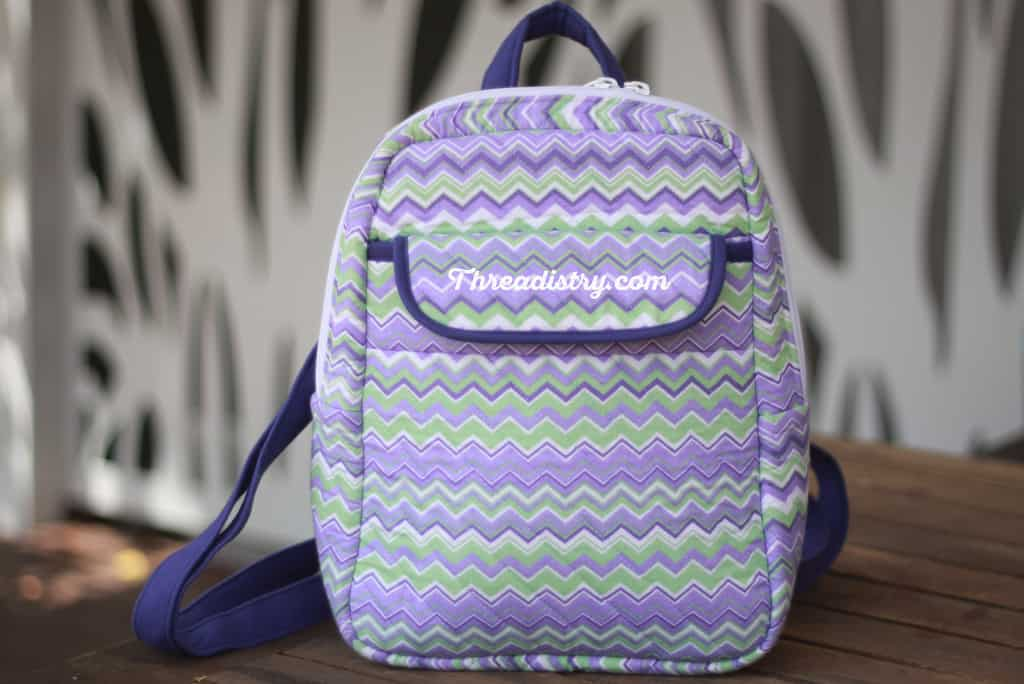My version of the Sew Sturdy Essential Backpack - front view