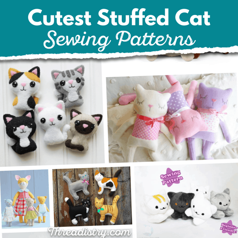 From cute and cuddly to realistic: the best Stuffed Cat sewing patterns