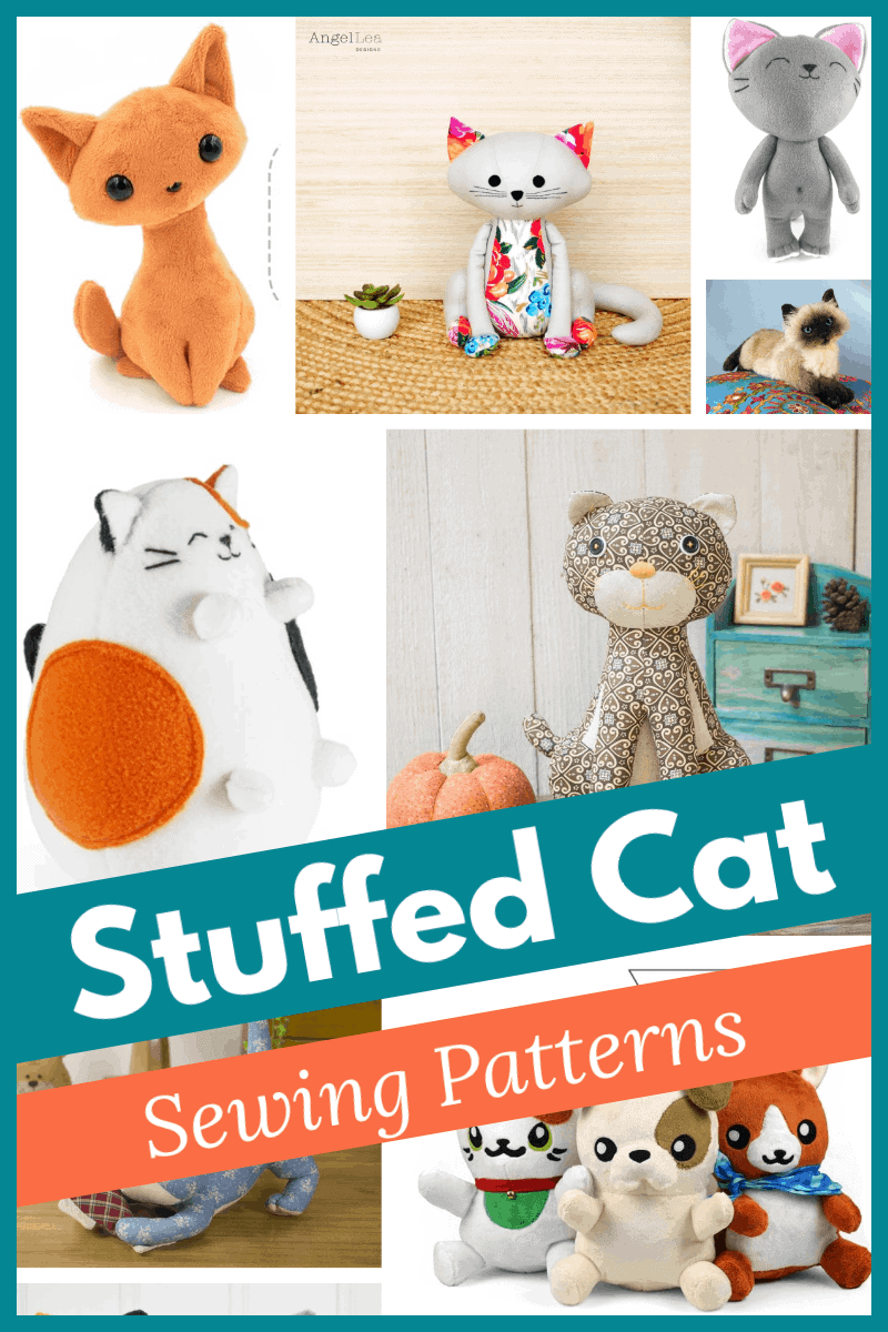 Great selection of stuffed cat sewing patterns - from cute to realistic.