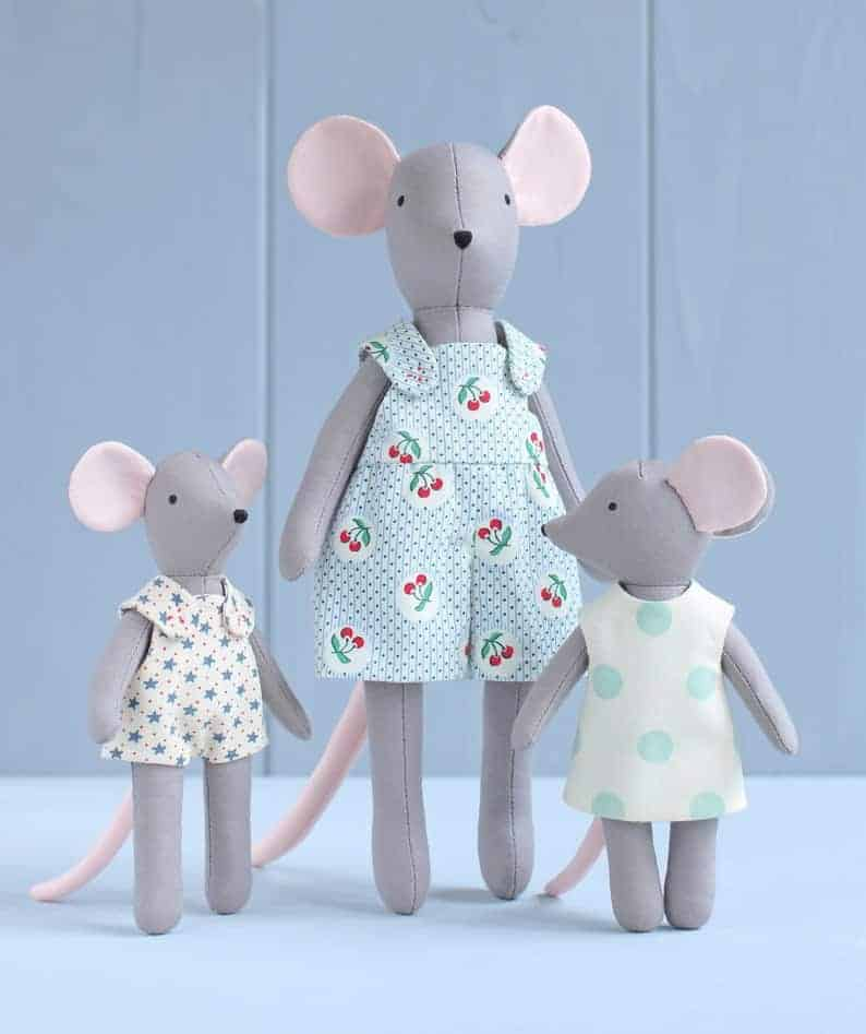 mouse family sewing pattern