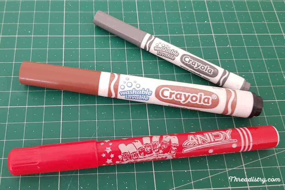 Kid's washable markers - perfect for fabric marking!
