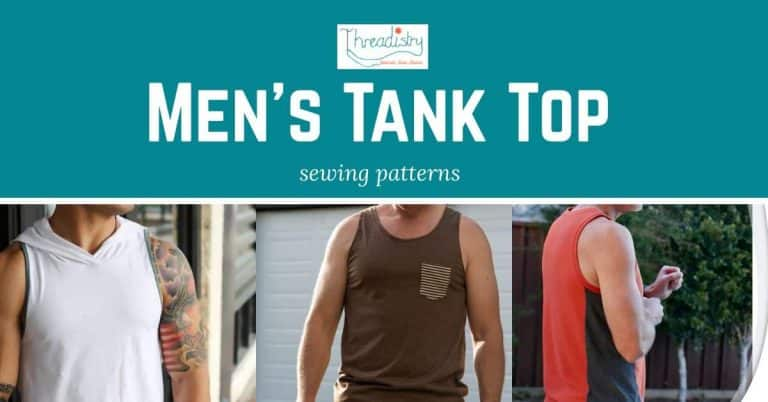 Show off those guns with Men's Tank Top sewing patterns