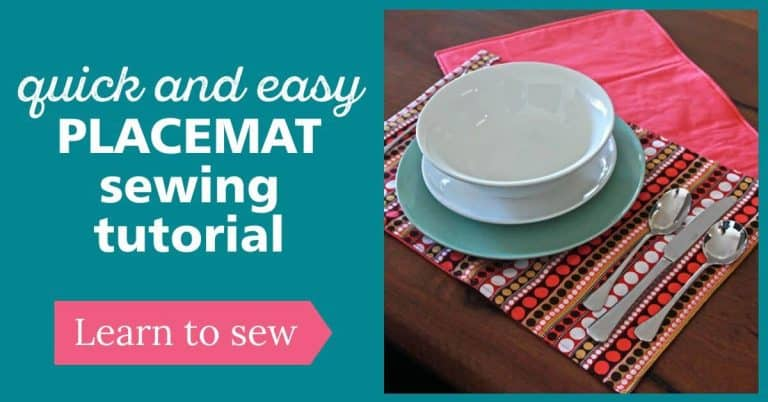 How to sew a Placemat   Quick and Easy Beginner sewing project