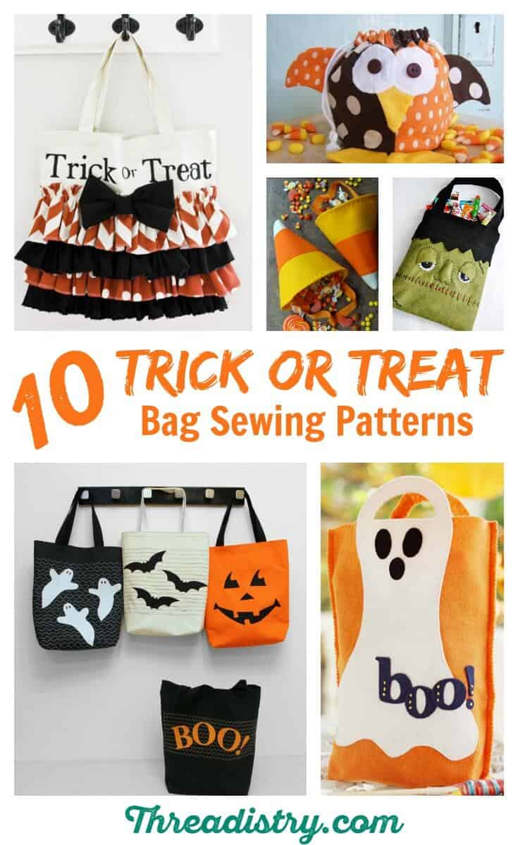 I made the kids' Halloween costumes, but I almost forgot about the trick or treat bags. There's so many great DIY trick or treat bag sewing patterns and tutorials. I should be able to make one before I know it, but should I go for a pumpkin treat bag or the ghost, or Frankenstein?