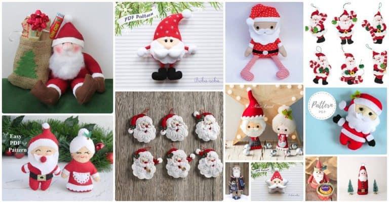 Santa Claus patterns to sew