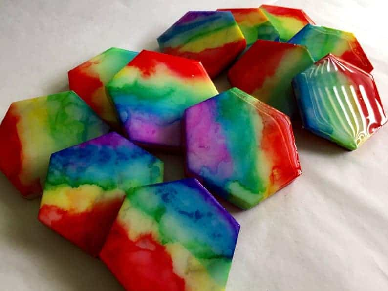 Rainbow Marble Tile Sewing Pattern Weights