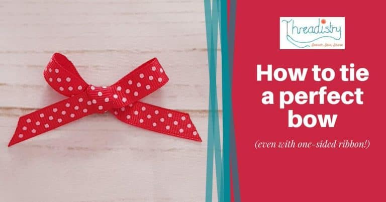 How to tie a perfect bow every time (even with one-sided ribbon!)