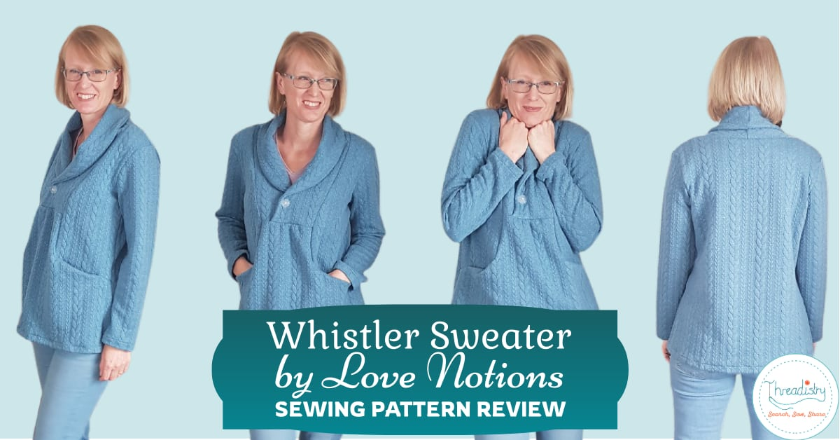 Four views of the one Whistler sweater