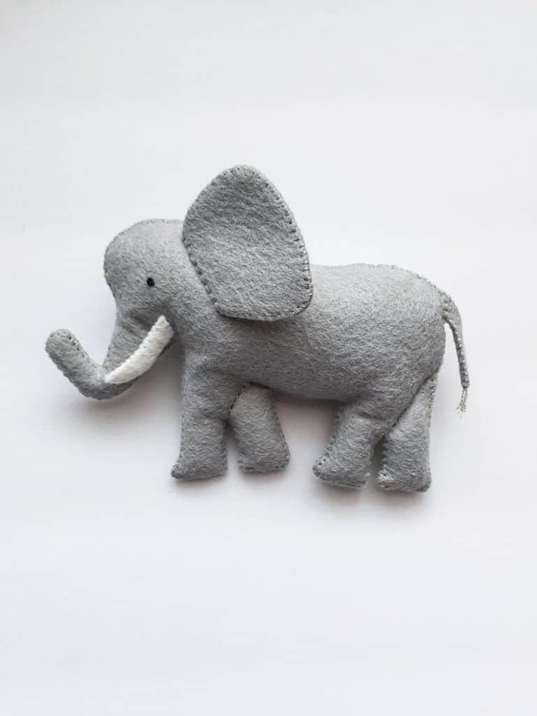 felt elephant sewing pattern